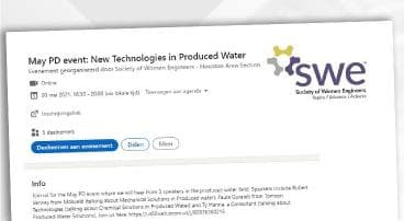 May PD event: New Technologies in Produced Water