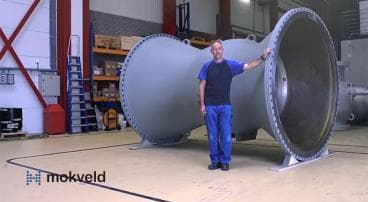 "Video of a 84"" non-slam axial check valve"
