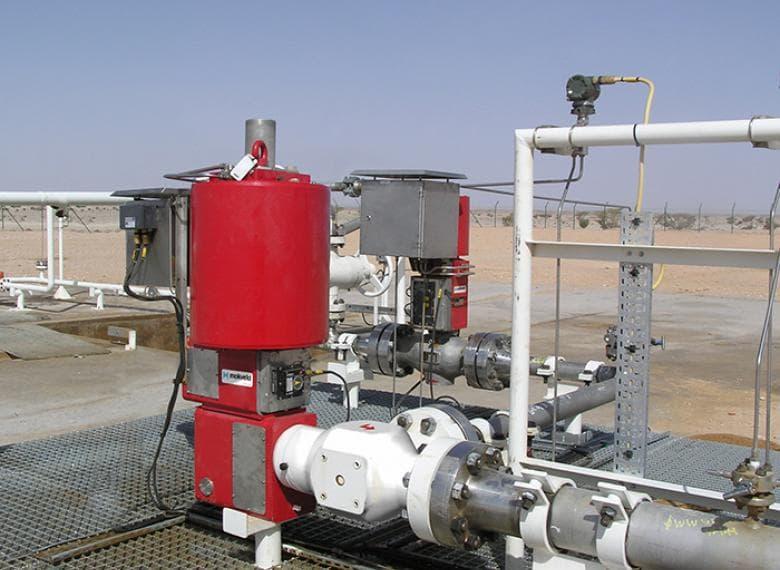 Angle choke valve, Oman