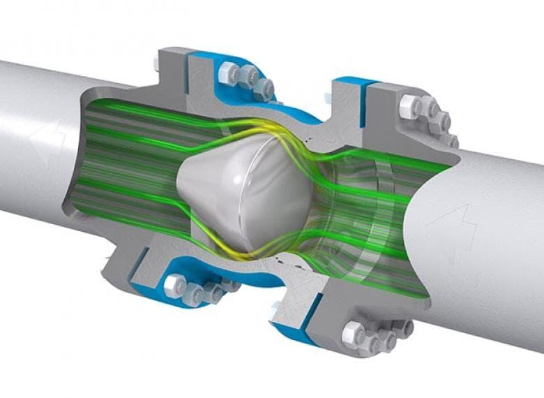 Axial Flow Valves Class 300 : Axial check valve mokveld