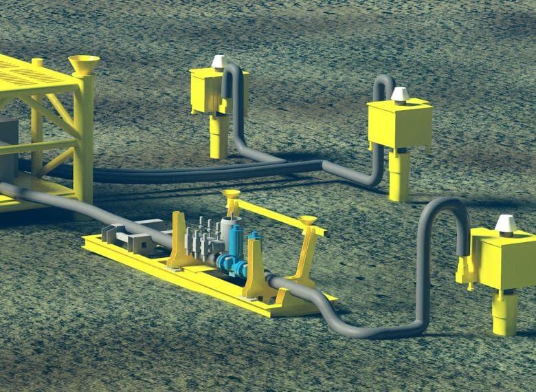صمام الإيقاف/التشغيل المحوري تحت سطح البحر كعنصر نهائي في وحدة أنظمة السلامة العالية للحماية من الضغط تحت سطح البحر