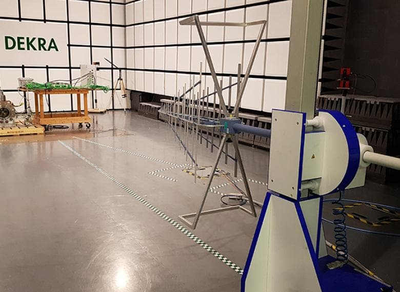 EMC testing of all components prior to the field test